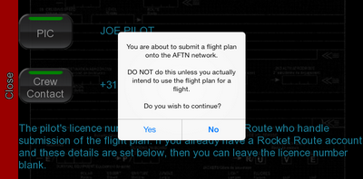 Your flight plan will go live now.