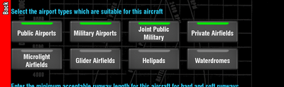 Suitable airports.