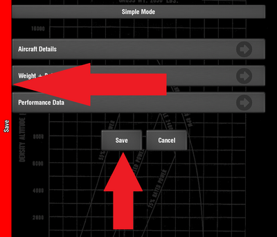 Save button.